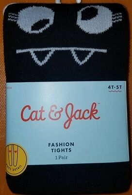 Size 4T-5T *TODDLER SWEATER FASHION TIGHTS Black & Gray Cat & Jack hg191