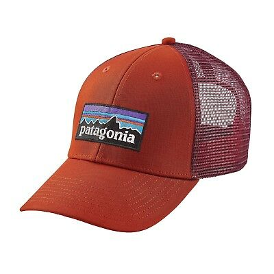 58b5bc5e0a2 NWT Patagonia P-6 LoPro Trucker Hat Baseball Cap Roots Red Adjustable  Snapback