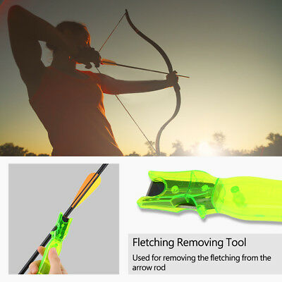 Archery Arrow Feather Fletching Removing Tool Remover Steel  Accessory Green CO