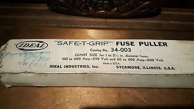 "PAIR Ideal ""Safe-T-Grip"" Fuse Puller, MONTANA POWER COMPANY - CEFCO - OLD STOCK"
