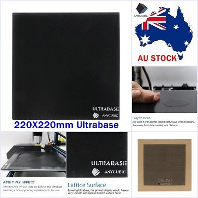 ANYCUBIC 220x220mm Ultrabase Glass Build Plate 3D Printer Platform for MK2/3 AU