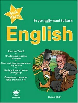 So You Really Want to Learn English Book 3: A Textbo... by Susan Elkin Paperback