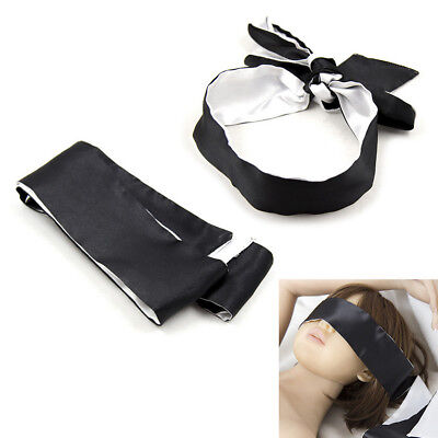 Sexy Soft Silk Satin Eye Mask Shade Blindfold Ribbon Reversible Bondage Adult