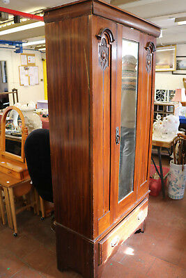 Victorian Mahogany Single Wardrobe c.1880