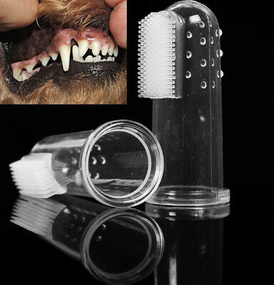 Finger Toothbrush Puppy Teeth Care Brush Soft Dog Cat Cleaning Toothbrushes