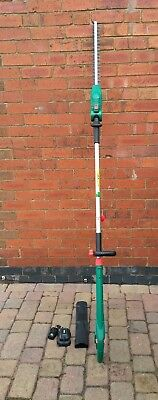 QUALCAST 18v RECHARGEABLE TELESCOPIC HEDGE TRIMMER. NEVER USED.