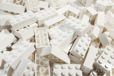 LEGO BRICKS 200 x WHITE 2x4 Pin - From Brand New Sets Sent in a Clear Sealed Bag