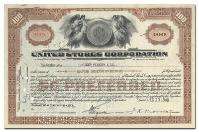 United Stores Corporation Stock Certificate (McCrory's, McLellan's)