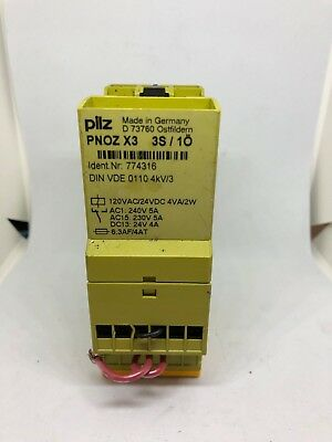 Pilz Pnoz X3 3S/1O Safety Relay Id. 774316