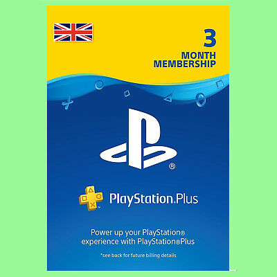 Playstation Plus Card Network 90 Tage 3 Monate PSN PS+ PS4 PS3 PSP Code UK Store
