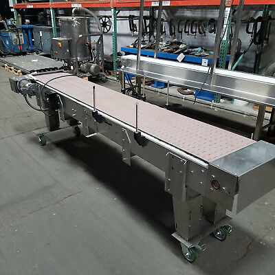 "Garvey Stainless Steel SS Conveyor 18""x10' 1/2hp 90vdc Slider Bed 0-55fpm"
