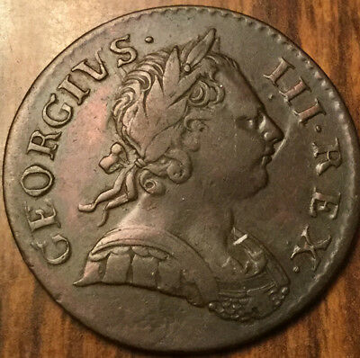 1771 UNITED KINGDOM HALFPENNY - A stunning piece that one is!