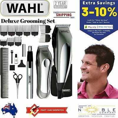 WAHL Hair Clippers Cordless Beard Nose Trimmer Groomer Shaver Mens Haircut Set