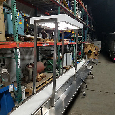 "Best Industrial Stainless Steel SS Conveyor 10"" Belt 16' Long Slider Bed 115v"