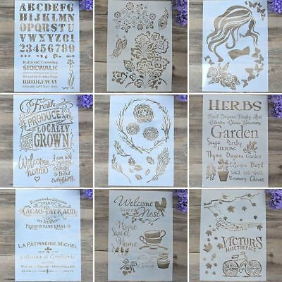 DIY Craft Wall Painting Scrapbooking Embossing Template Layering Stencils