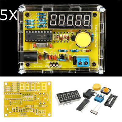 5Pcs DIY Frequency Tester 1Hz-50MHz Crystal Counter Meter With Housing Kit