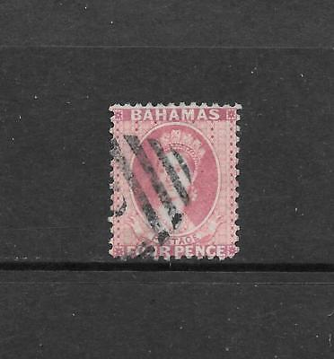 1882 Queen Victoria SG41 4d. Rose Perf 12 Wmk. Crown CA Used BAHAMAS