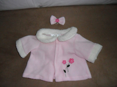 ANIMAL WORKS HANDMADE Clothing for Teddy Bear Pink Set Coat/Headband 3+ 14-18""