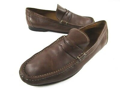 de495d301ca PETER MILLAR MENS Penny Loafers Brown Leather 10 M -  29.25