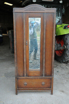 Dark wood vintage wardrobe