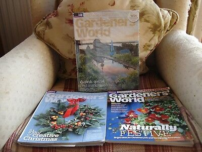 3 New Copies Of Gardeners' World Magazine (Special Subscriber's Editions)