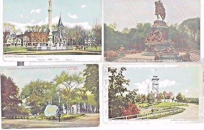 Vintage LOT 8   MONUMENTS STATUES POST CARDS c1905-1950 USA HISTORY  AND CULTUR