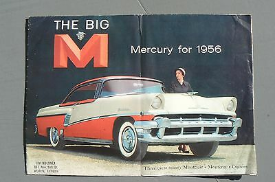 Orig Mercury Sales Folder For 1956  9 By 12 Inch Opens Large Color Rare