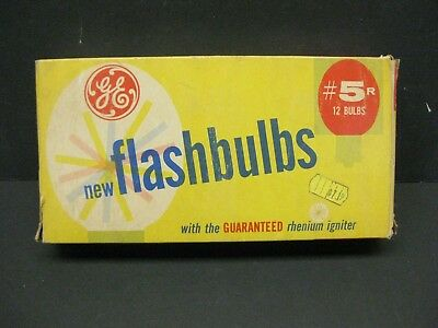 GE 5R Infrared Flashbulbs new old stock 1 package 12 bulbs