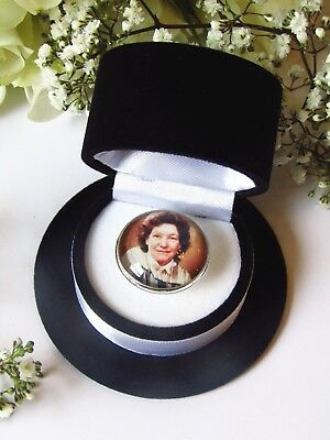 Photo Badge Groom Memory Brooch Buttonhole Personalised Picture In Gift Box