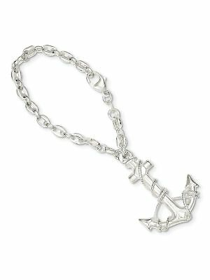 925 Sterling Silver Anchor Key Ring - New