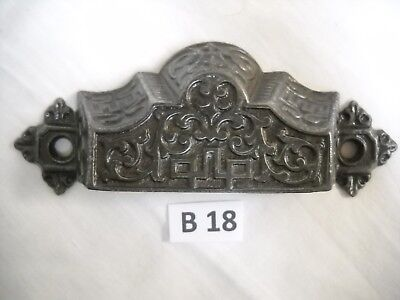 Antique Eastlake Cast Iron Drawer Bin Pulls 1872