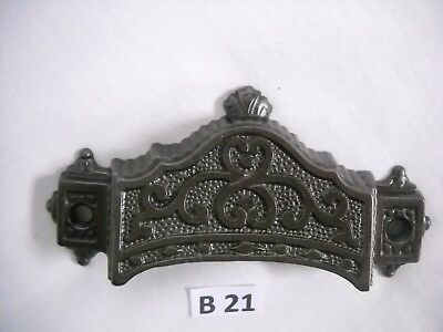 Antique Eastlake Cast Iron Drawer Bin Pulls 1871