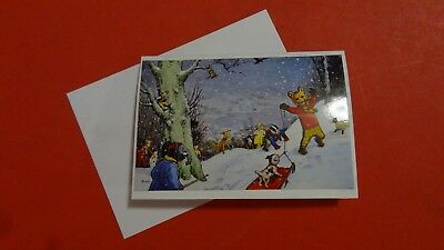 Rupert Bear Blank Card Depicting Alfred Bestall Annual 6 Inches By 4 Inches New