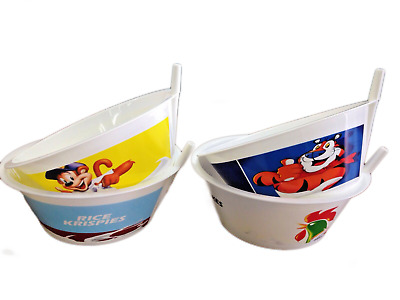 4x Kids Tip' N Sip' Cereal Bowls With Built In Straw | 4 Pack |