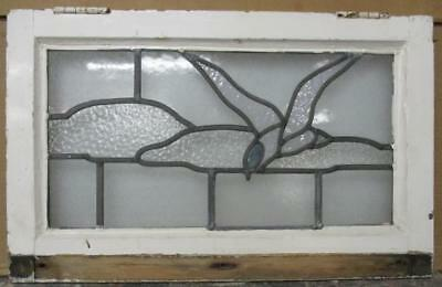 "MID SIZED OLD ENGLISH LEADED STAINED GLASS WINDOW Abstract Bird 24.25"" x 15.25"""
