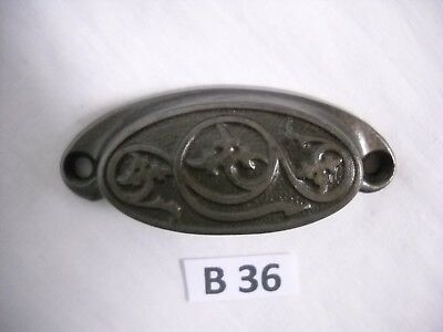 Antique Eastlake Cast Iron Drawer Bin Pulls 1873