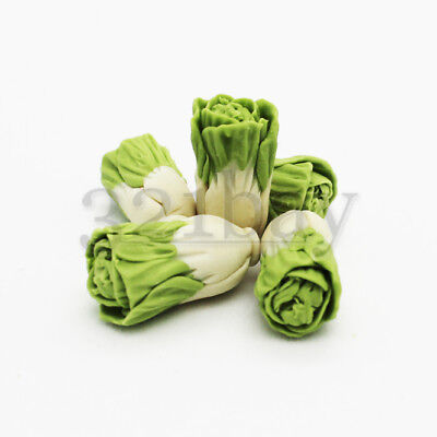 5 pcs Polymer Clay Vegetables Clay Cabbage Miniature Dollhouse Food Grocery 1:12
