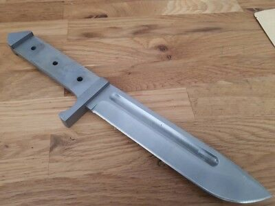 Custom Bowie Blade Blank Handmade Hunting Outdoors Camping Knife Maker