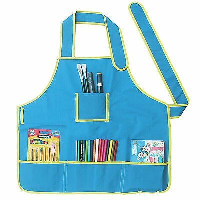 Childrens Smock Apron with 4 Pockets for Cooking / Art Painting School Class