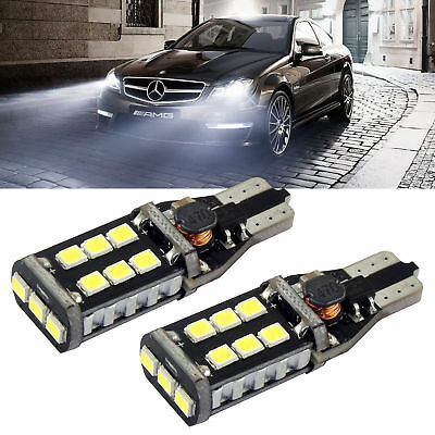 T10 Car Bulbs Led Error Free Canbus 6 Smd Xenon White W5W 501 Side Bulb Rlts