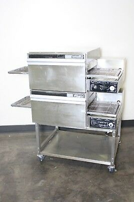 Lincoln Impinger 1132 Commercial Electric Pizza Oven Conveyor Double Stack