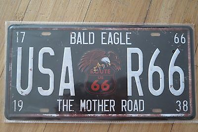 usa ROUTE 66  NOVELTY  NUMBER PLATE 30 CM BY 15 CM