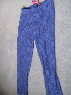 M & S LIMITED COLLECTION lacy cropped leggings sze10 BN