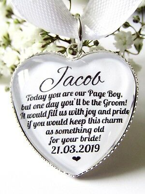 Page Boy Something Old Quote Wedding Charm Future Bride Bouquet Charm Gift