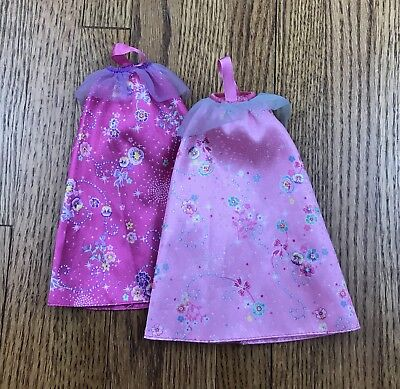 BARBIE DOLL GOWNS Dresses Lot of 2 Pink Gown Dress Ball - £8.64 ...