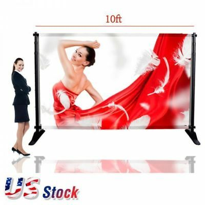 """USA 10""""W x8""""H Large Tube Step Repeat Adjustable Backdrop Telescopic Banner Stand"""