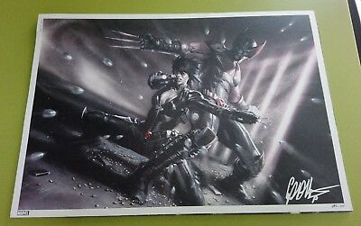 Litho Exclusive X FORCE Angoulême Edition Lim Num SIGNEE DELL'OTTO 300 ex Panini