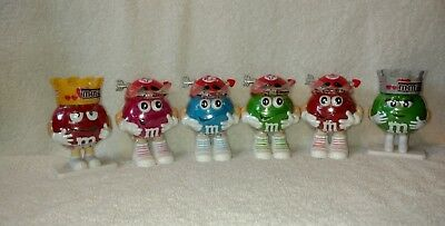 M&M's Valentine Candy Holders Lot Of 6