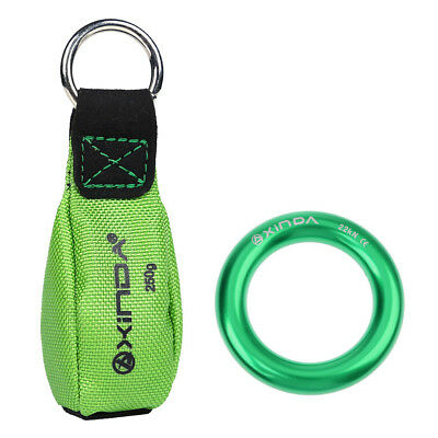 8.8oz Climbing Arborist Throw Weight+ 22KN Rappel Ring Bail-Out Rigging Gear