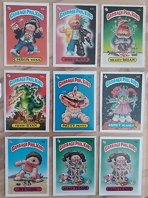 Garbage Pail Kids OS2 Card lot. 9 cards 1985. vintage